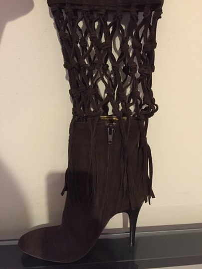MAKE ME AN OFFER- Roberto Cavalli Brown Suede Boots Image 2