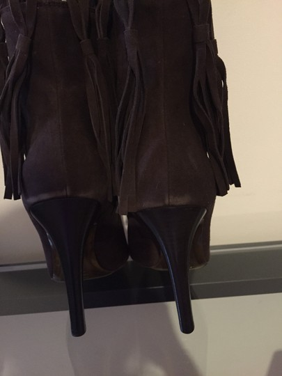 MAKE ME AN OFFER- Roberto Cavalli Brown Suede Boots Image 5