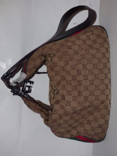 Gucci Popular Style Accessory Col Print Navy/Red Stripe Snap Front Pocket/Top Zip Hobo Bag Image 7