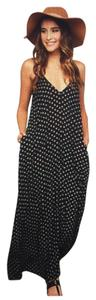 Black and White Polka Dots Maxi Dress by Boho Chic