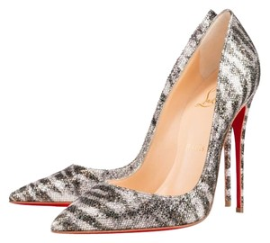 Christian Louboutin Pigalle Pigalle Sirene Pigalle Size 36.5 Silver Pumps