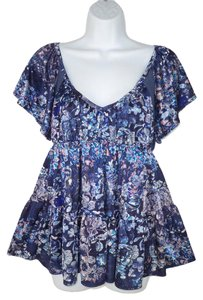 Free People Baydoll Floral Tiered Swing Top