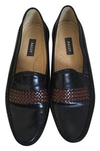 Bally Loafer Leather Black Flats