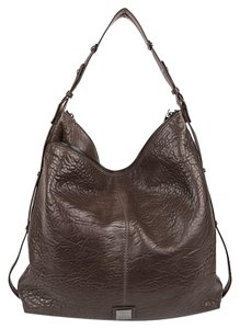 Kooba Leather Fringe Zip Pulls Hobo Bag