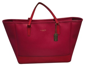 Coach Satchel in Pink/ Red