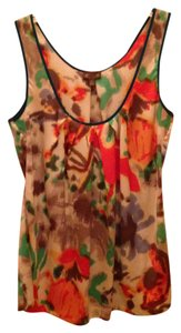 Anthropologie Abstract Pattern Sleevless Night Out Work Top multi-colored