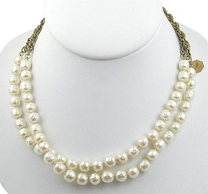 Chanel Simulated Pearl & Chain Sautoir Necklace