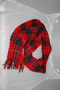 Burberry Burberry 100% Cashmere Red Green Scarf