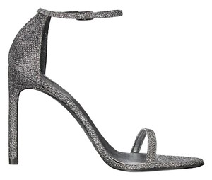 Stuart Weitzman Nudist Nudistsong Adobe Aniline Iconic Celebrity Pewter Noir Sandals