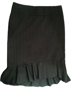 Express Business New Skirt Black with pinstripes