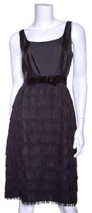 Kate Spade Black Fringed Dress