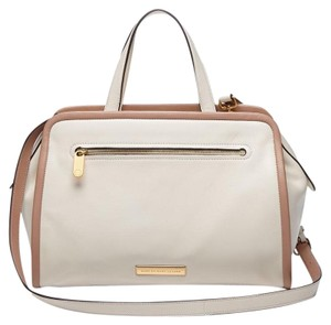 Marc by Marc Jacobs Genuine Leather Nude White Satchel in Leche Ivory Multi