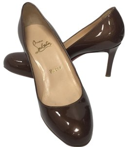 Christian Louboutin Brown patent Pumps