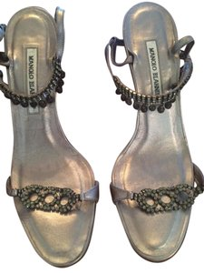 Manolo Blahnik Pewter Formal