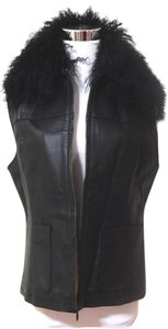 Lisa International Faux Fur Leather Vest
