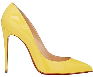 Christian Louboutin Pigalle Follies Yellow Pigalle Size 38 Louboutin Yellow Moutarde Pumps