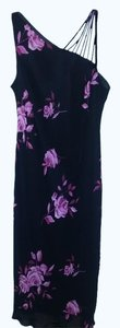 Black with pink floral Maxi Dress by Evan Picone