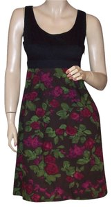 Anthropologie short dress Black Burgundy on Tradesy