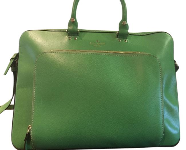 Item - New York Janine Green Leather Laptop Bag