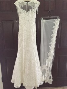 Yvonne Lafleur Private Designer Collection Mermaid/trumpet Wedding Gown & Veil Wedding Dress