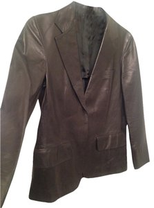 Gucci Genuine Leather Black Blazer