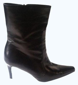 Coach Bootie Pointed Toe Black Boots