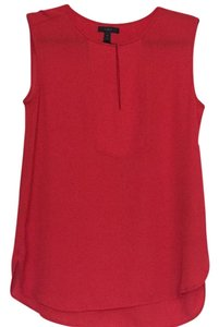 J.Crew Holiday Sleeveless Sheer Top Red