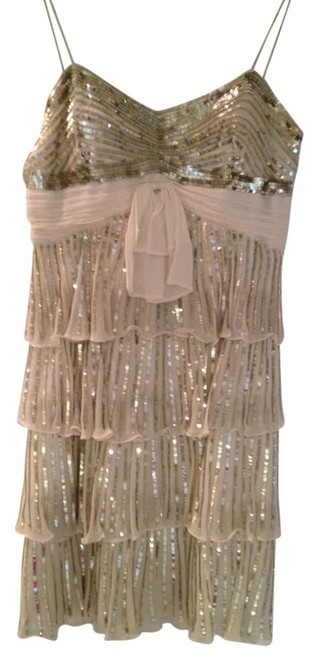 Preload https://item3.tradesy.com/images/ivorygoldsilver-sequin-7581-1027-above-knee-cocktail-dress-size-6-s-179202-0-0.jpg?width=400&height=650