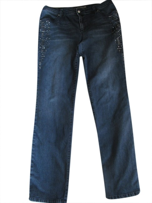 Item - Denim Medium Wash Platinum Straight Leg Jeans Size 34 (12, L)