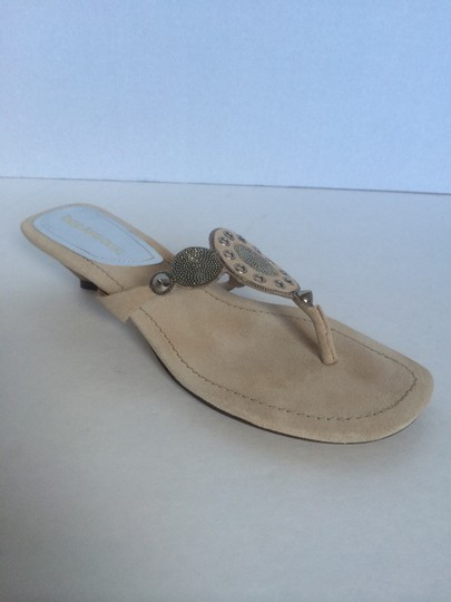 Enzo Angiolini Light Natural Suede Sandals Image 1