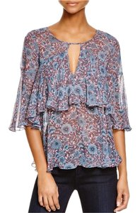 Rebecca Taylor Top Pink/ Blue/ Gray
