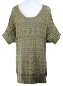 August Silk 0764090nr Stone Tan Dolman Sleeve B129 Sweater