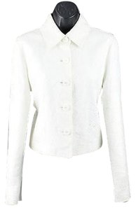 Worth White Linen Embroidered Spencer B75 Jacket