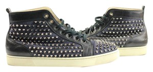 Christian Louboutin Spike Loubs Red Bottom Denim/blue Athletic