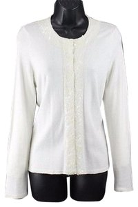 Chico's Chicos 0 Sequin Trimmed Sweater