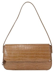 Jones New York Brown Croco Embossed Faux Leather B325 Shoulder Bag