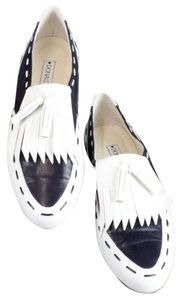 Donald J. Pliner J Leather Kendal Slip On B218 Navy White Flats