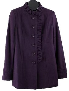 Tulle Wool Wool Blend Standing Collared B06 Coat
