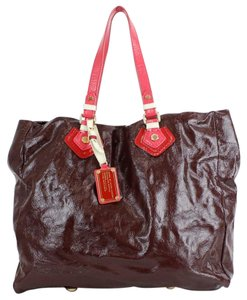 Marc by Marc Jacobs Uwt Tote in Brown Pink Red Cream Gold