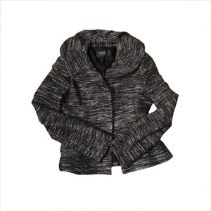 BCBG Paris Black, white, gray Blazer