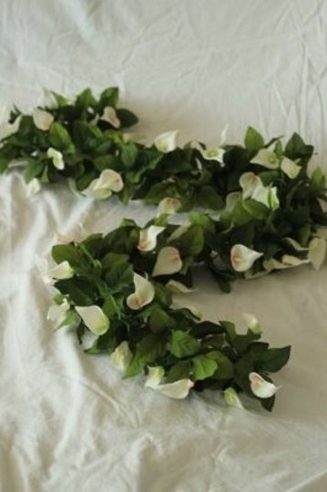 Michaels Green and White Silk Calla Lily Garlands Ceremony Decoration
