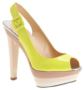 Christian Louboutin Yellow, beige Platforms