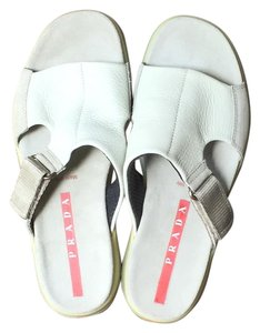 Prada Sport Leather White Sandals