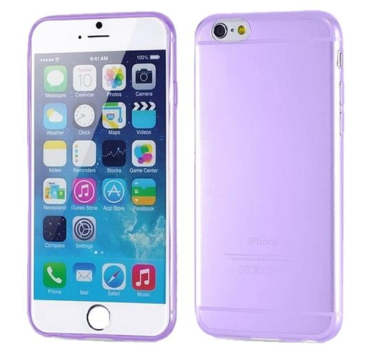 "Other Purple - IPhone 6 4.7"" TPU Rubber Gel Ultra Thin Case Cover Transparent Glossy 10 Colors Available"