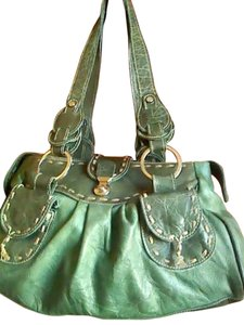 Leather Satchel in green