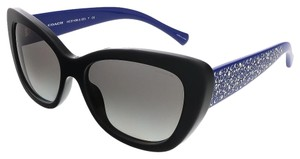Coach Coach Black/Blue Cat Eye Sunglasses