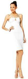 Fashion Star short dress White Bodycon Sheath Keyhole on Tradesy