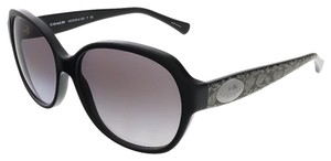 Coach Coach Black/Whip Snake Frog Square Sunglasses