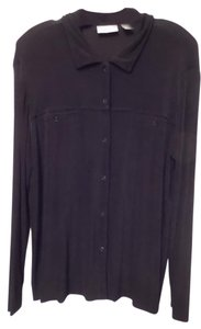 Chico's Travelers Snap 3 Xl Knit Black Jacket