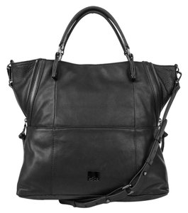 Kooba Leather Day To Night Satchel in Black